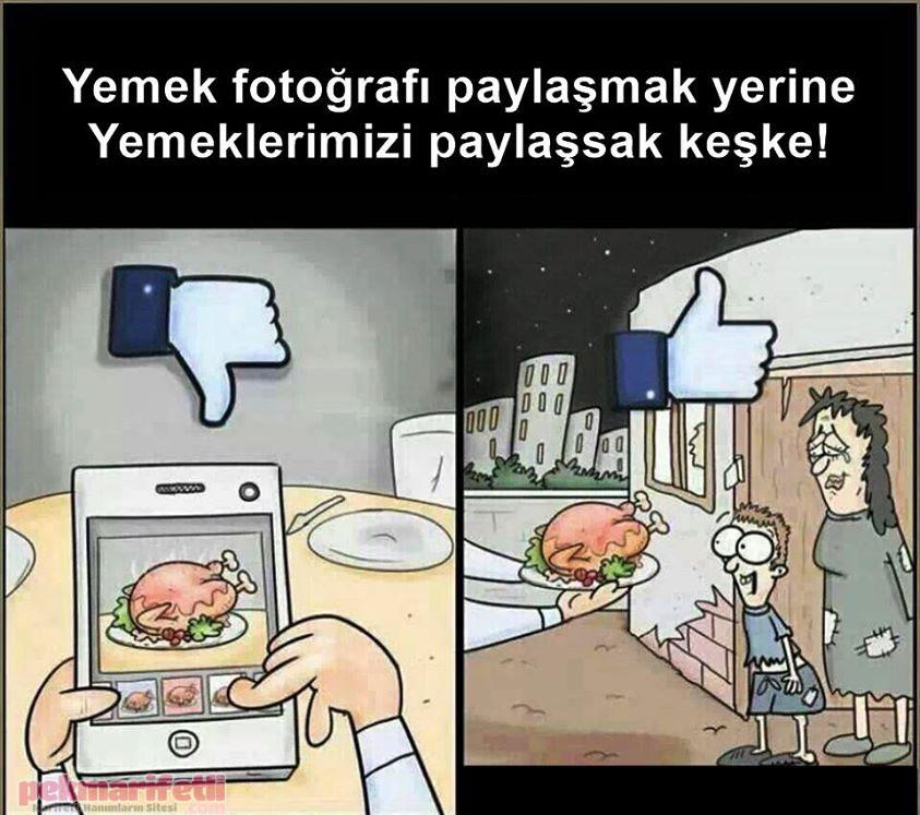 Yemek fotoğrafı değil, yemeklerimizi paylaşalım...!