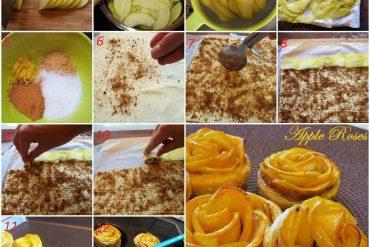 Yufkalı, elmalı gül tatlısı tarifi