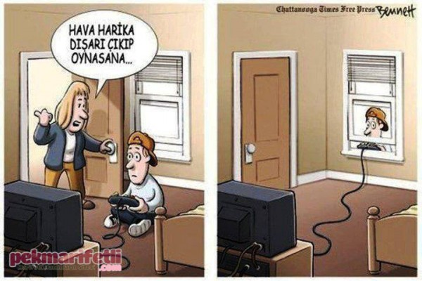 Zamane çocuklarının oyundan anladıkları :(