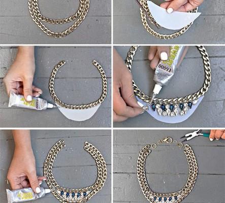 Zincirle kolay kolye yapımı