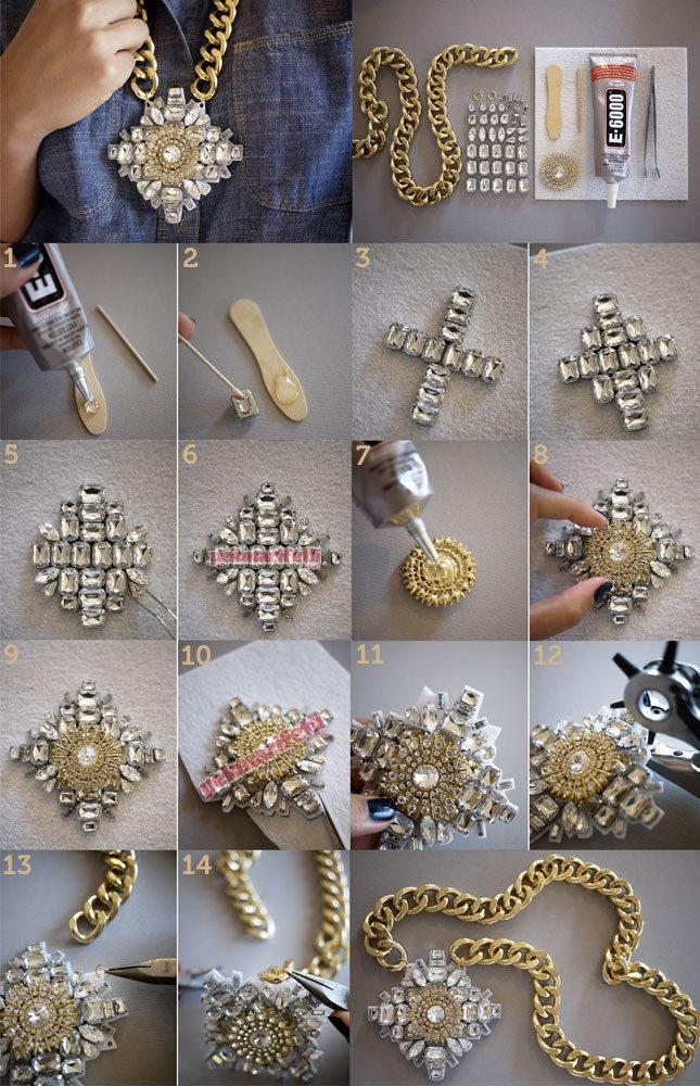 Zincirli taşlı kolye yapımı